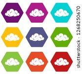 information cloud icons 9 set...