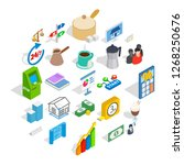 business model icons set.... | Shutterstock . vector #1268250676