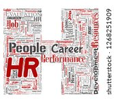concept conceptual hr or human... | Shutterstock . vector #1268251909
