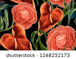 colourful seamless pattern with ... | Shutterstock . vector #1268252173