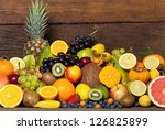 fresh healthy fruit from whole...   Shutterstock . vector #126825899