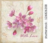 artistic vector floral design... | Shutterstock .eps vector #126826208