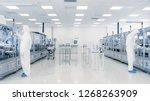 scientists working in... | Shutterstock . vector #1268263909