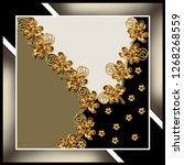 flowers scarf pattern | Shutterstock . vector #1268268559