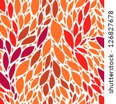 red and orange tropic leaves... | Shutterstock .eps vector #126827678