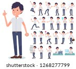 a set of businessman with who... | Shutterstock .eps vector #1268277799