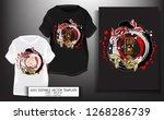 t shirt design japanese style... | Shutterstock .eps vector #1268286739