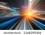 motion blur of a city and... | Shutterstock . vector #1268290306