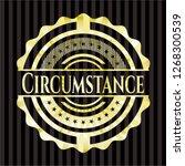 circumstance golden emblem or... | Shutterstock .eps vector #1268300539