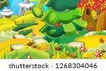 cartoon autumn nature...   Shutterstock . vector #1268304046
