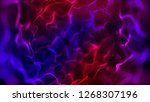 3d abstract organic... | Shutterstock . vector #1268307196