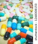 capsule pills and pill type... | Shutterstock . vector #1268308153