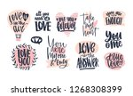 collection of stylish valentine'... | Shutterstock . vector #1268308399