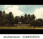 riverside in a vietnamese... | Shutterstock . vector #1268310523