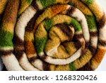 rolled woolen polar fleece... | Shutterstock . vector #1268320426