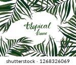 rectangular frame of leaves... | Shutterstock . vector #1268326069