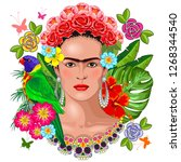 Frida Kahlo Floral Exotic...