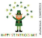 st. patrick s day vector... | Shutterstock .eps vector #1268350213