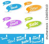 hot deals tags and labels | Shutterstock .eps vector #126835610
