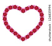 heart made of flowers isolated... | Shutterstock . vector #126835994