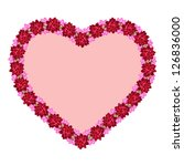 valentine's heart made of... | Shutterstock . vector #126836000