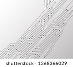 circuit board or motherboard... | Shutterstock .eps vector #1268366029