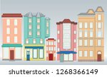 colorful buildings in flat style | Shutterstock .eps vector #1268366149