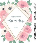 wedding floral card.... | Shutterstock .eps vector #1268370310