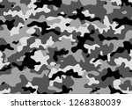 black and white camouflage... | Shutterstock .eps vector #1268380039