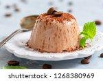 delicious coffee panna cotta... | Shutterstock . vector #1268380969