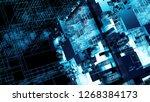 3d render complex abstract... | Shutterstock . vector #1268384173
