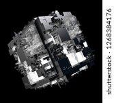 3d render complex abstract... | Shutterstock . vector #1268384176