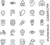 thin line icon set   brainstorm ... | Shutterstock .eps vector #1268391799