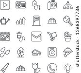 thin line icon set   medical... | Shutterstock .eps vector #1268397736