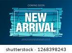 new arrival banner design. | Shutterstock .eps vector #1268398243