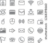 thin line icon set   phone... | Shutterstock .eps vector #1268398660