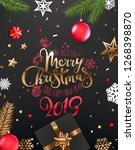 merry christmas and happy new... | Shutterstock .eps vector #1268398870