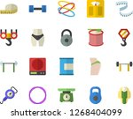 color flat icon set hook flat... | Shutterstock .eps vector #1268404099