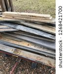 reclaimed salvage boards from... | Shutterstock . vector #1268421700