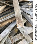 reclaimed salvage boards from... | Shutterstock . vector #1268421709