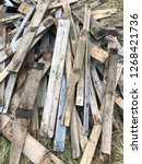 reclaimed salvage boards from... | Shutterstock . vector #1268421736