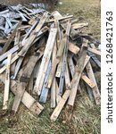 reclaimed salvage boards from... | Shutterstock . vector #1268421763