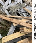 reclaimed salvage boards from... | Shutterstock . vector #1268421769