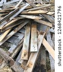 reclaimed salvage boards from... | Shutterstock . vector #1268421796