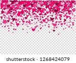 pink  heart confetti  valentine'...   Shutterstock .eps vector #1268424079