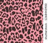 seamless leopard print. vector...   Shutterstock .eps vector #1268443900