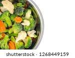 mix of frozen vegetables in...   Shutterstock . vector #1268449159