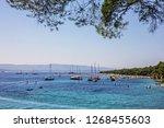 croatian adriatic resort brac... | Shutterstock . vector #1268455603