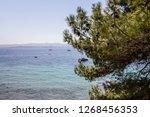 croatian adriatic resort brac... | Shutterstock . vector #1268456353