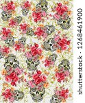 flower design texture pattern | Shutterstock . vector #1268461900